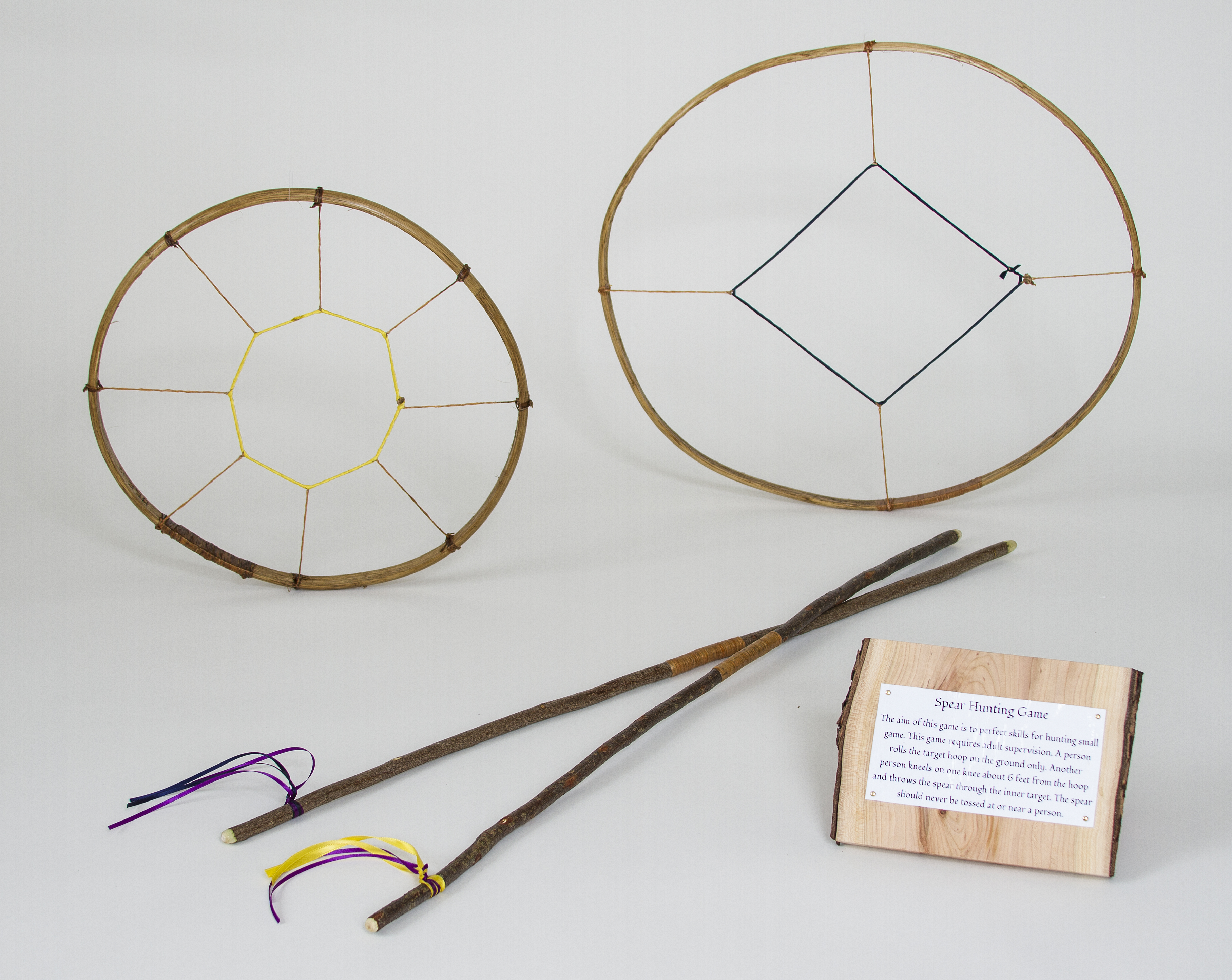 how to make hoop and stick game